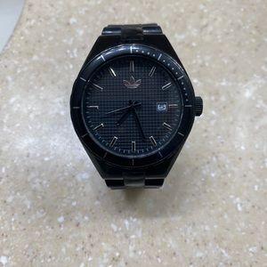 Black Adidas sport watch